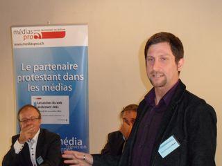 Jean-Christophe Emery, journaliste RSR et initiateur du projet des Assises du web protestant romand